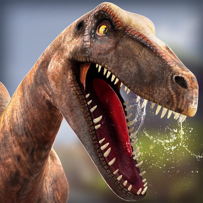 恐龙公园 . 侏罗纪模拟器快跑游戏奇幻世界免费